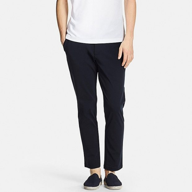 The lightweight and fast-drying fabric of Uniqlo's Kando pants make it a handy workwear item.