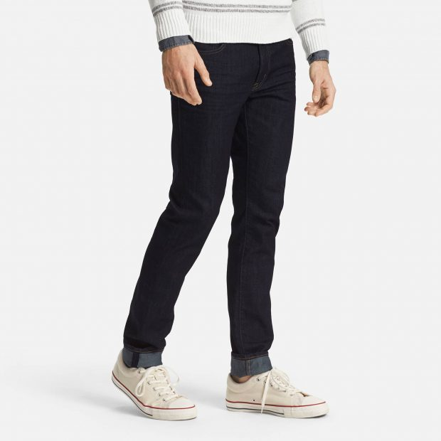 Twenty percent lighter than regular denim, Uniqlo's Miracle Air jeans was developed in collaboration with designer denim manufacturer Kaihara.