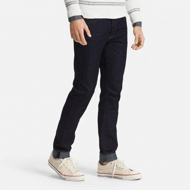 Twenty percent lighter than regular denim, Uniqlo's Miracle Air jeans was developed in collaboration with designer denim manufacturer Kaihara.
