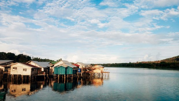The reflection of these houses on stilts indicate Tawi-Tawi's clean waters.