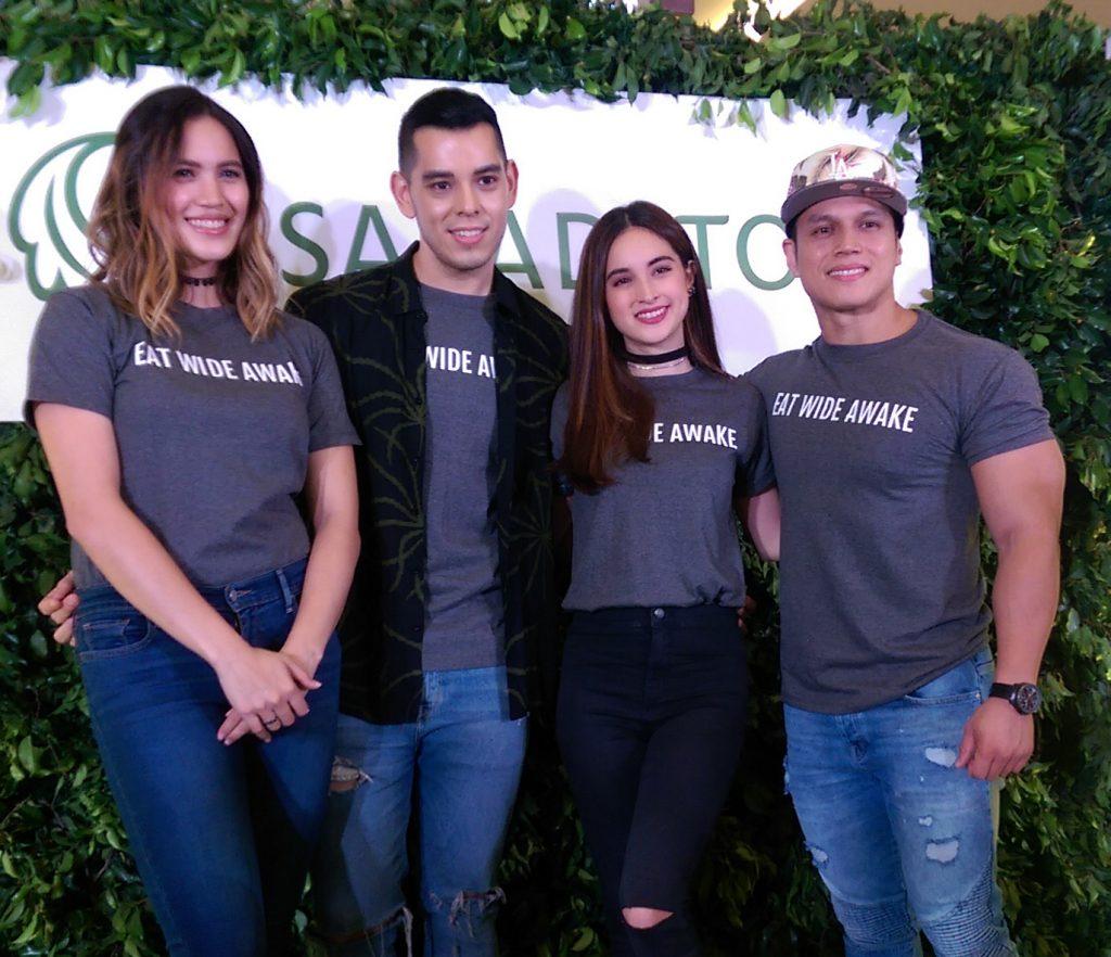 L-R: Michelle Gumabao, Raymond Gutierrez, Coleen Garcia, Arnold Aninion