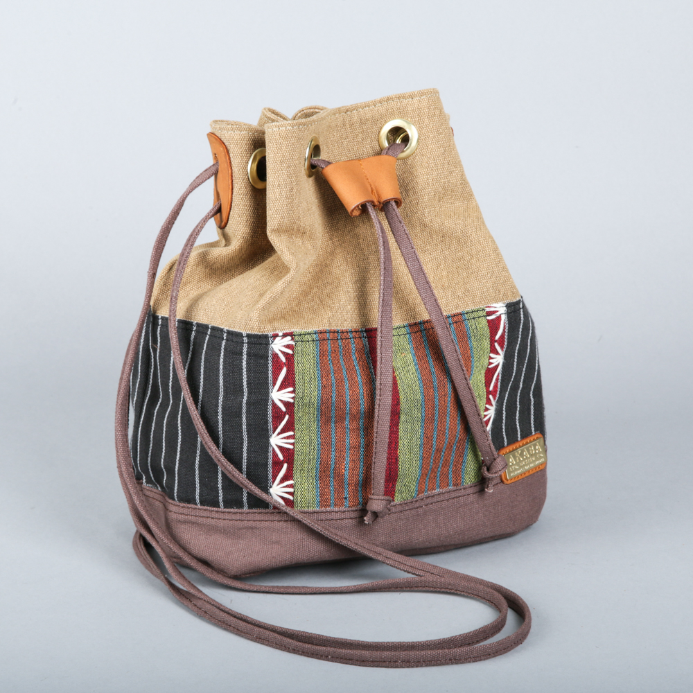 Drawstring tote from Akaba.